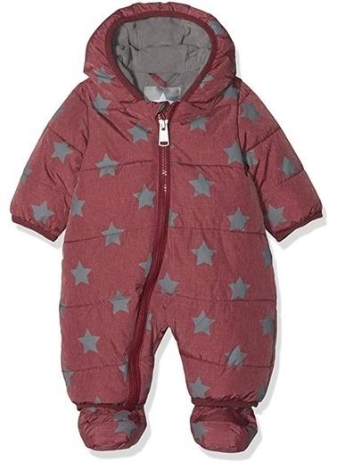 Bellybutton Bellybutton Yıldız Desenli Fermuarlı Unisex Bebek Mont Kırmızı